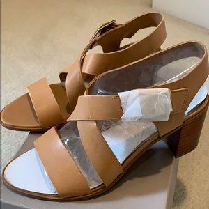 Block heel strappy sandals.